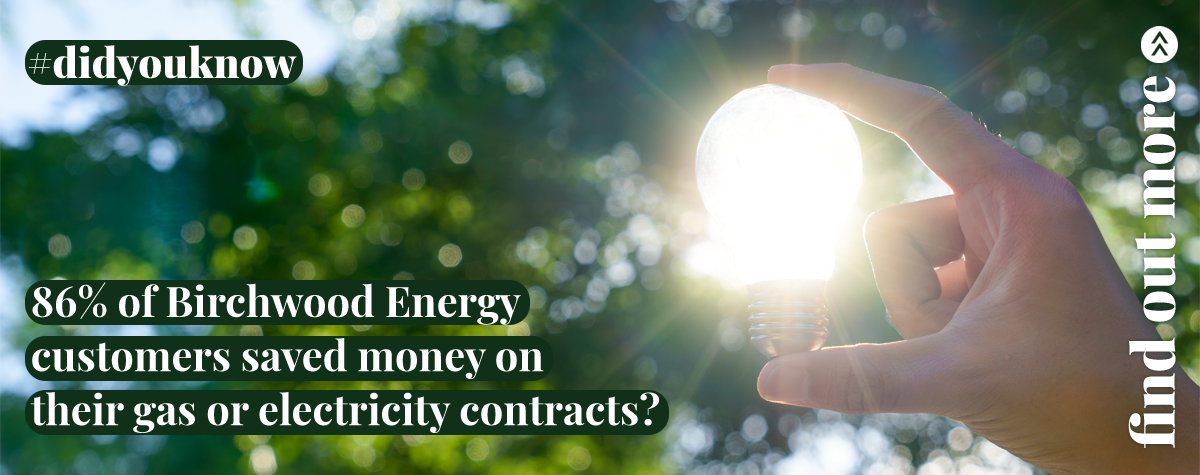86% of Birchwood Energy customers saved mon on their gas or electricity contracts.